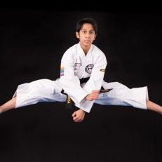 Taekwondo helped me with perseverance and self control. Usually I solve rubix cubes and play basketball in my free time. I do Taekwondo on Thursdays and Saturdays, and occasionally Tuesdays, and enjoy the friendly environment with many helpful instructors and peers.