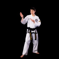 Taekwondo has helped me to improve my public speaking abilities. I like Taekwondo because I enjoy helping others.